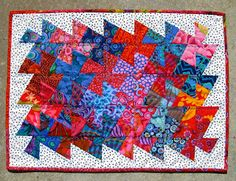 pieceful life: little quilt monday~~~finished pinwheel mini quilt