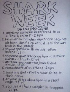 shark week drinking game that will absolutely get you HAMMERED