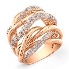 Unique Diamond Rings | ... gold ladies ring with 230 round diamonds set on pave diamonds weight