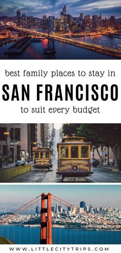 Planning a San Francisco family vacation? Where do you find the best family-friendly hotels & accommodation in San Francisco? An area guide plus our hand-picked favourites to suit every budget Toddler Plane Travel, Travel With Kids, Family Travel, California Getaways, California Travel, San Francisco With Kids, Travel Usa, Travel Tips, Travel Destinations
