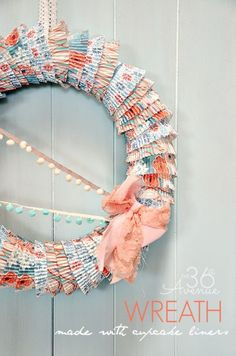 The 36th AVENUE | Wreath Tutorial ~ Made with Cupcake Liners