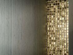 Arabia Gold metal effect wall tiles by Porcelanosa - Azulejos efecto metalico Arabia Gold de Porcelanosa