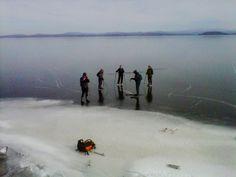 Lake Champlain, winter.  www.lakechamplainregion.com