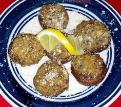 Stuffed Mushrooms from Bella's in Pawleys Island.  A little hard to find but reportedly worth it!