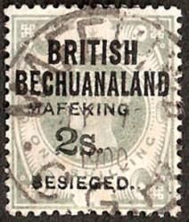 1900 2s on 1s green of British Bechuanaland, Type 2 Overprint (SG 16) FU example with Mafeking cds MY 13 1900 An elusive stamp - only 570 ovptd Rare Stamps, Vintage Stamps, West Africa, South Africa, The Siege, African History, Stamp Collecting, British, War
