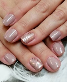 Nude & Glitter Wedding Nails for Brides