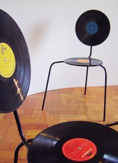 Record chairs... this is what you need for your room @Baylie Carlson Carlson Carlson Carlson Wright