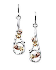 real sterling silver 925 drop stud rennie mackintosh earring amethyst Aquamarine