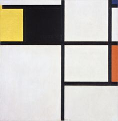 Tableau with yellow, black, blue, red and grey, (1923) by Piet Mondrian