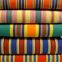Deckchairstripes offers a range of 35 colourways of striped cotton deck chair canvas, including vintage stripes reproduced from its archive, all 45cm wide, £10m. Use the existing canvas to establish how much fabric you will need: 1.5m 