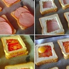 Печеные бутерброды с ветчиной, помидорами и яйцами рецепт – завтраки. «Афиша-Еда»