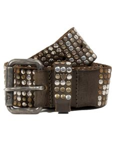 Le Marché Aux Puces. Brown studded belt.  #brown #studs #belt