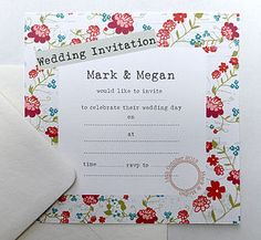 15 Vintage Floral Wedding Invitations - wedding stationery