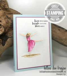 Stampin Up Beautiful you no line watercolouring