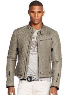 #RalphLauren Quilted Biker Jacket - Polo Ralph Lauren Lightweight & Quilted  - RalphLauren.com