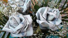 Денежные розы - Цветы из ткани и бумаги