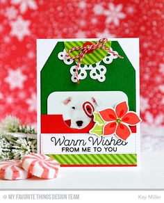 Handmade card from Kay Miller featuring Winter Warmth