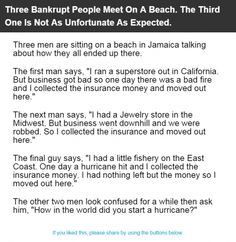 Three Bankrupt People Meet On A Beach. The Third One Is Not As Unfortunate As Expected. | Alltopics