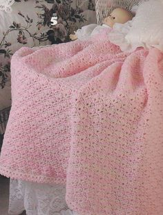 Baby Love Afghan Crochet Patterns, 6 Shell Stitch Designs