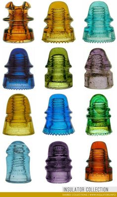 colorful glass insulators