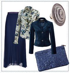 #Elegante #Materialien für ein #fetsliches #Outfit in #nachtblau. By Brigitte von Boch #bevonboch