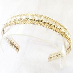 Tiara Arco Luxo - Coração Dourado