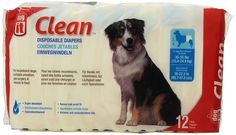 Dogit Disposable Diapers, Large, 12-Pack *** Continue to the product at the image link.