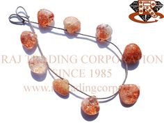 Tanzanian Sunstone Smooth Heart (Quality A) Shape: Heart Smooth Length: 18 cm Weight Approx: 12 to 14 Grms. Size Approx: 12.5 to 15 mm Price $35.70 Each Strand