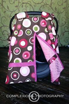 car seat canopy cover from peek a boo covers includes velcro handles and double. Black Bedroom Furniture Sets. Home Design Ideas