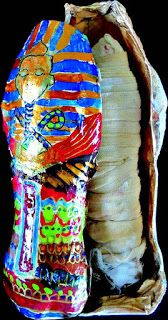 #Howto make a #DIY paper mache #mummy!  Source - BoyCraft