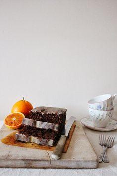 Hippopotamousse: Blood Orange Chocolate Loaf Cake