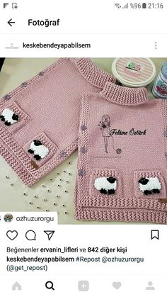 Dieser Pin wurde von neb entdeckt – silvia adriana Leyria – Join the world of pin This Pin was disco… Diy Crafts Knitting, Easy Knitting Patterns, Knitting For Kids, Knitting Designs, Baby Knitting, Crochet Baby, Knit Headband Pattern, Knitted Headband, Baby Girl Vest