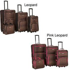 @Overstock - Travel in style with a Rockland Fashion Print four-piece expandable luggage set. With sturdy polyester construction and smooth in-line skate wheels, this luggage set is highlighted by a fashionable leopard print.  http://www.overstock.com/Luggage-Bags/Rockland-Leopard-4-piece-Expandable-Luggage-Set/6457669/product.html?CID=214117 $96.04
