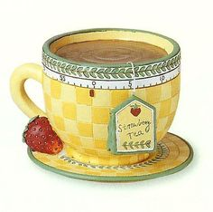 Laminas para decoupage | Aprender manualidades es facilisimo.com  A cup of hot tea? It is cold out today, snow is falling down...!