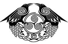 Huginn and Muninn Tattoo   Browsing Tattoo Design on deviantART
