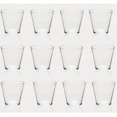 12 Stück Teelichtgläser H7cm Teelichthalter Dessertgläser Windlichter Glasschale