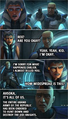 💬 Browse the collection of the best quotes from Star Wars: The Clone Wars. Find out who said what and in what episode. One liners, conversations. Star Wars Trivia, Star Wars Rebellen, Star Wars Jokes, Star Wars Facts, Jason Earles, Pokemon Mew, Danny Glover, Gilda Radner, Robert Duvall
