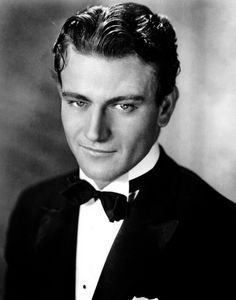 John Wayne... as a pretty, pretty boy. this photo has me feeling all warm and tingly.