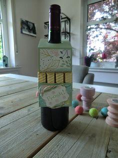 Stampin Up Flaschenanhänger mit Zum Wohl und Summer Silhouettes