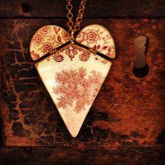 Boodi Blu's Mosaic Heart. A rare floral red! www.boodiblu.com