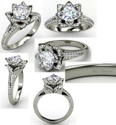 Okay so I have always said that I wanted a simple ring but holy dang this just changed my mind!!! I want this!!