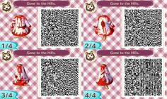 halloween inspired bloodied dress, reds and whites #acnl #nintendo #halloween