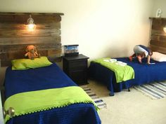 twin beds for adults decorating | Awesome Kid Twin Bedroom Design Ideas Fantastic Wood Twin Bed ...