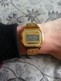CASIO Gold Retro Digital Watch by OfficialThrowback on Etsy, £17.99