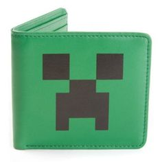 What better way to keep your loot safe than wrapping it in a snazzy Creeper face wallet? Some may look on, green with envy, but you know your trusty billfold wi Minecraft Gifts, Minecraft Toys, Minecraft Pixel Art, Creeper Minecraft, Cool Minecraft, Minecraft Party, Minecraft Clothes, Mojang Minecraft, Minecraft Ideas