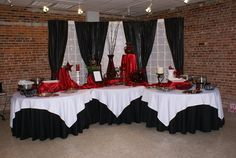 Red, Black, White and Damask Wedding Decor in London Ontario | | Red ...