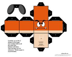 Super Mario Papercraft Clipart