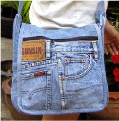 youngcgirl: daur ulang jeans bekas menjadi tas keren