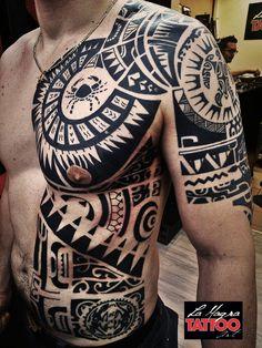 #maori #tattoo #lamagratattoo #polynesiantattoosleg