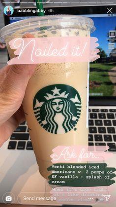 Starbucks must try Starbucks Hacks, Starbucks Frappuccino, Healthy Starbucks Drinks, Starbucks Secret Menu Drinks, Starbucks Coffee, Yummy Drinks, Healthy Drinks, Iced Americano Starbucks, Starbucks Recipes